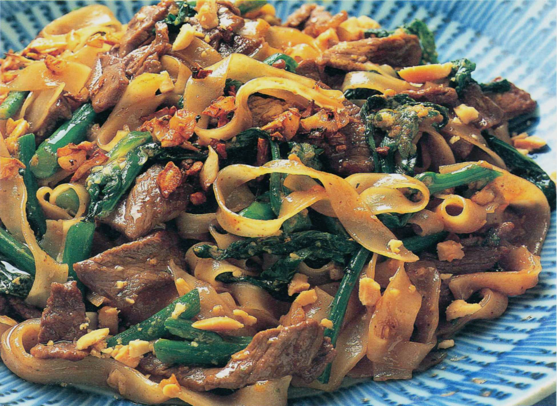 Stir Fried Rice Noodles With Beef And Broccoli From Ken Hom Cooks Thai By Ken Hom