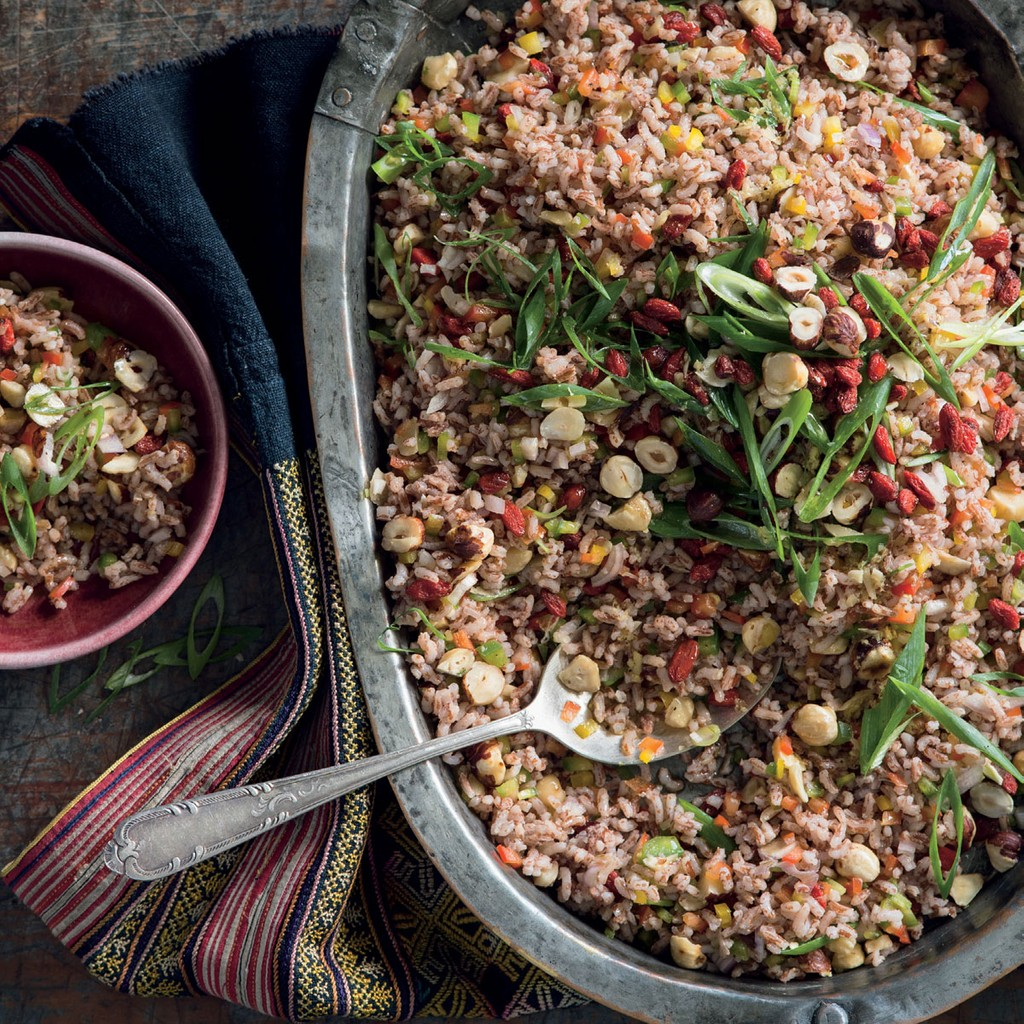 Bhutanese Red Rice Goji Berry Hazelnut Salad From Lands Of The