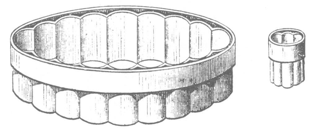 Mould for large Vols-au-vents or Tourtes.